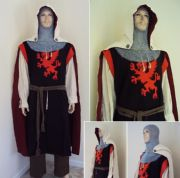 Red Griffin Knights 6 Piece Full Costume Set